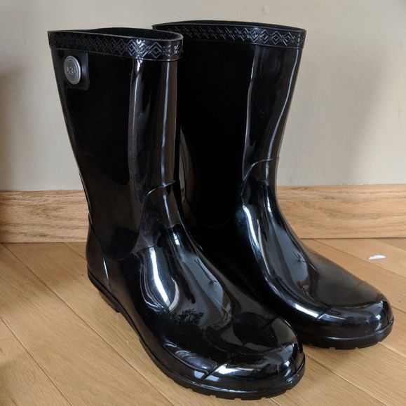121c3fe4829 New UGG Women's Sienna Mid Calf Rain Boots - Black